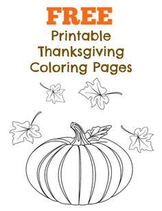 FREE Thanksgiving Coloring Pages (Printable)