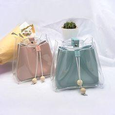 Super Ideas For Diy Bag Accessories Cross Body Cute Mini Backpacks, Stylish Backpacks, Transparent Bag, Clear Bags, Cute Purses, Girls Bags, Cute Bags, My Bags, Backpack Bags
