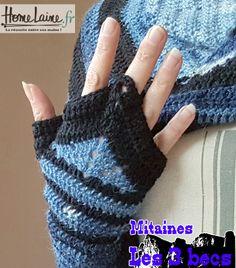 cb466fb9862b Mitaines Les 3 becs – Patron crochet par Pat Trishia Niveau intermédiaire  au crochet Boutique De