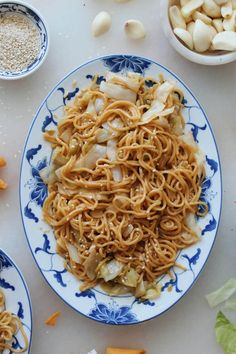 The trip to your local Chinese grocery store is so worth it for these chow mein noodles. Don't try to skimp and use spaghetti - that's just wrongggg. Also, yes I am allergic to sesame seeds, but. Lemon Recipes, Quick Recipes, Cooking Recipes, Chow Mein, Chow Chow, Wonton Noodles, College Cooking, Cooked Cabbage, Lemon Pasta