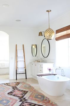 Modern Bohemian Master Bath Retreat                                                                                                                                                     More
