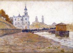 Henri Le Sidaner (French, 1862-1939), Paris, le Trocadéro, 1889. Oil on panel, 35.5 x 26 cm.