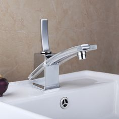 Polished Chrome Chrome Basin Sink Mixer Tap Laundry Water Faucet Bathroom Vanity Sink Faucet  Brass Deck Mount Mixer Tap L-8227 #Affiliate