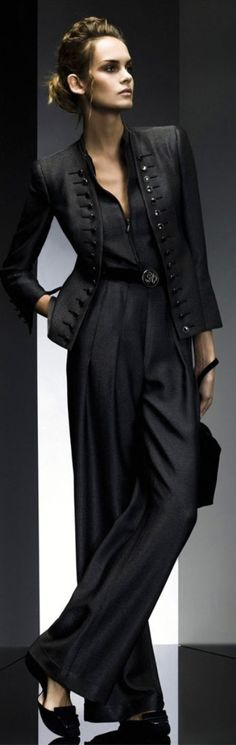 great pant suit. Giorgio Armani.
