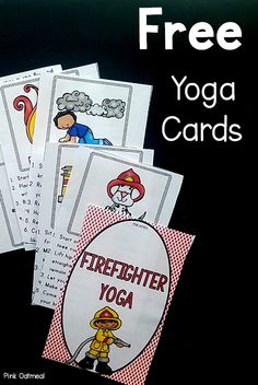 Fun kids yoga poses that are perfect for fire safety week activities. Use these for your classroom at home or for therapy interventions. A fun kids fitness activity. Kids Yoga Poses, Yoga For Kids, Exercise For Kids, Kid Yoga, Fire Safety Crafts, Fire Safety Week, Preschool Fire Safety, Gross Motor Activities, Preschool Activities