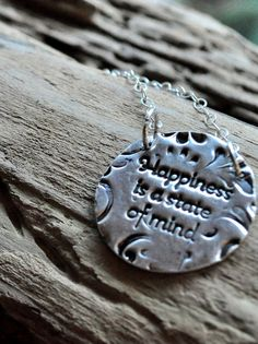 Precious Metal Clay. Hand Stamped Inspirational Jewelry.