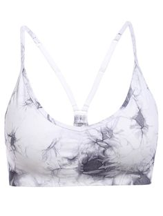 Stylish Strappy Tie Dyed Soprt Bra For Women