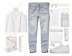 """""""::"""" by soygabbie ❤ liked on Polyvore featuring Monki, Abercrombie & Fitch, NIKE, H&M, NARS Cosmetics, Topshop, Kate Spade, Aamaya by priyanka and MANGO"""
