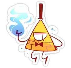 Gravity Falls stickers featuring millions of original designs created by independent artists. Cartoon Stickers, Tumblr Stickers, Cute Stickers, Gravity Falls Bill Cipher, Desenhos Gravity Falls, Homemade Stickers, Transparent Stickers, Sticker Design, Cartoon Wallpaper