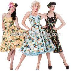 Rockabilly saia roupas-em Outros vestidos de Vestidos em m.portuguese.alibaba.com.