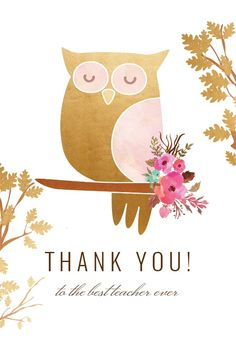 Fairy Forest Woodland - Thank You Card #greetingcards #printable #diy #thankyou #notes #thanks Teacher Appreciation Cards, Teacher Cards, Thank You Card Template, Thank You Cards, Best Teacher Ever, Forest Fairy, Printable Cards, Woodland, Create Yourself