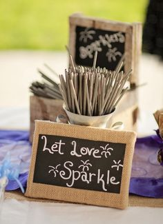 DIY Wedding Sign for Sparkler Send-Off @Kassi Dallavis Dallavis Dallavis Baker thought you'd love this