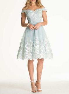 **Chi Chi London Bardot Embroidered Dress - Dorothy Perkins