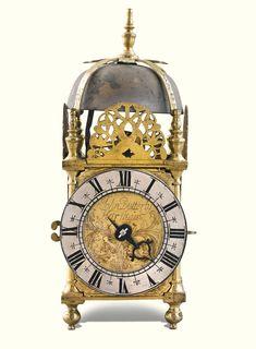 A small brass lantern clock, John Butterly, Horsham, circa 171