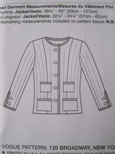 Coco Chanel Jacket Pattern | Everything Just So: DIY Chanel Jacket: The Pattern
