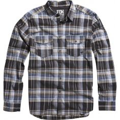 2013 Fox Racing Brayden Woven Long Sleeve Casual Motocross Adult Apparel Shirts