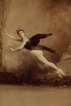 HeleneLevy [In winged costume, posed in mid air] ca. 1860-1910  via NYPL