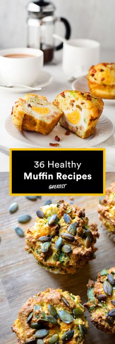 Any way you bake 'em—they're satisfying AF. #healthy #muffin #recipes http://greatist.com/eat/healthy-muffin-recipes