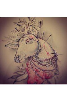 Sketch by Greg Whitehead – Animal Tattoos
