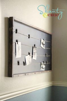 Build a string-lined memo board.