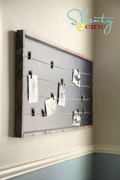 Build a string lined memo board. | 21 Pottery Barn Inspired DIYs