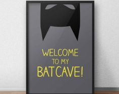Batman print/nursery superhero poster
