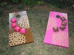 Corn hole. Making a set this summer! I wish my hubby would go along with these I love this....