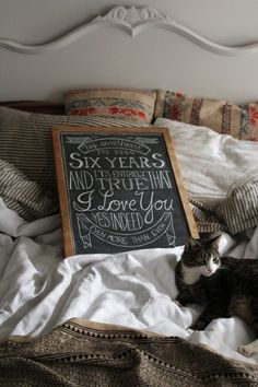 you know I'm not cheesy... but this is just so, so sweet.    (minus the cat.)