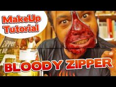 BLUTIGE Reißverschluss WUNDE | MAKE UP Tutorial Halloween 2014 - YouTube