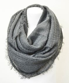 Love this Leto Collection Gray Open Grid Infinity Scarf by Leto Collection on #zulily! #zulilyfinds