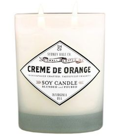 Like a grown-up Creamsicle, this double-wick candle is scented with vanilla, sweet cream, and Valencia orange.
