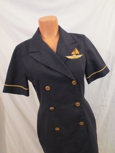 Continental Airlines stewardess uniform with International wings