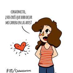 ❤️ Escucha a tu corazón (o no). . . . #chicadelosrulos #pelaeldiente #viñeta #humor #argentino #corazon #art #wacom #viñetas #cómic #draw