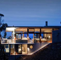 Striking glass and timber pavilion: Ocean House