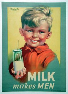 cute vintage milk ad