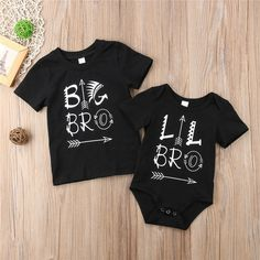 b09e081e2c4 2018 Brand New Newborn Toddler Infant Baby Boys Brother Twins Bodysuit  Matching Outfits Casual Clothes
