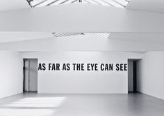 lawrence weiner as far as the eye can see - Google Search