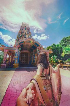 A Hindu temple in Mauritius. ..