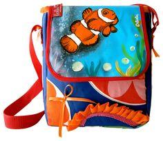 Bei deiner Tasche *Clownfisch unterwegs* von *leolini* sind dir die Blicke gewiss!