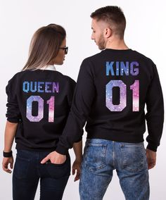 Together Since, Matching Couples Sweatshirts The best anniversary outfit! Matching Couple Outfits, Matching Couples, Matching Clothes, King And Queen Sweatshirts, Galaxy Sweatshirt, Anniversary Outfit, Matching Hoodies, Pullover, Outfits For Teens