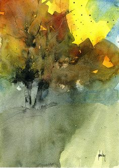 paulbailey -Autumn shadows/Watercolour Indian ink