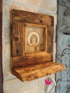Rusztikus fali disz, kulcstartó, Dekoráció, Otthon, lakberendezés, Kép, Meska