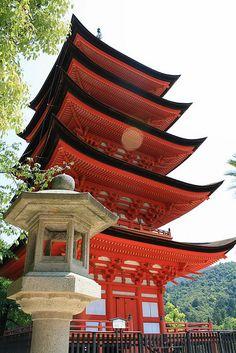 Pagoda, Miyajima, Japan, by Tracy Sparkes