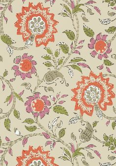 SEVITA, Fuschia and Coral, T64113, Collection Caravan from Thibaut