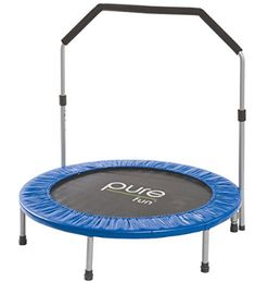 Pure Fun Mini Rebounder Trampoline with Adjustable Handrail, Mini Trampolines Rebounder Trampoline, Kids Trampoline, Trampoline Workout, Trampolines, Trampoline Reviews, Best Electric Pressure Cooker, Pure Fun, Aerobics Workout, Popular Toys