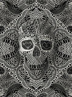 Lace skull by Ali Gulec.