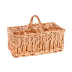Check out this item at One Kings Lane! 8-Compartment Willow Basket