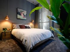 The Block Glasshouse 2014 - Guest bedrooms Dream Bedroom, Home Bedroom, Bedroom Decor, Bedroom Lighting, Morden Bedroom, The Block Glasshouse, Home Room Design, Bedroom Styles, Glass House