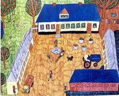 デンマークの11歳の女の子の作品ですタイトルは田舎のバースデーパーティーうきうきと楽しそうな感じが伝わってきます #kidsart #kidsartwork #art #kidsdrawing #mykids #kidscraft #creativekids #creativeplay #childrensart #toddlerart #pretendplay #learningthroughplay #kidsactivities #childrensdesign #子供の絵 #こどもの絵 #子供の落書き #キッズアート #こどもアート #子どもの絵 #息子の絵 #娘の絵 #子供の作品 #娘の作品 #picasokko #子供の絵を残す #アート #子供の絵には成長がつまってる #子供の絵に上手いや下手は無い #아동미술