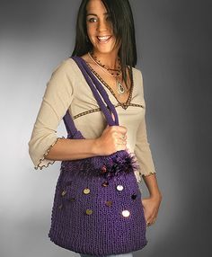 Expandable Purse using a knitting loom!
